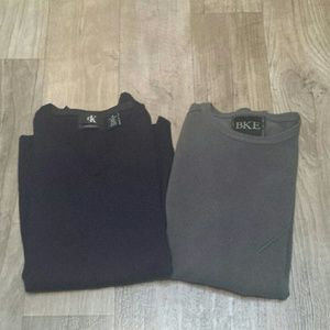 Calvin Klein merino wool v-neck blue sweater sz M